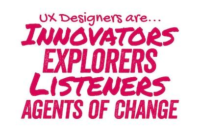 UX designers are