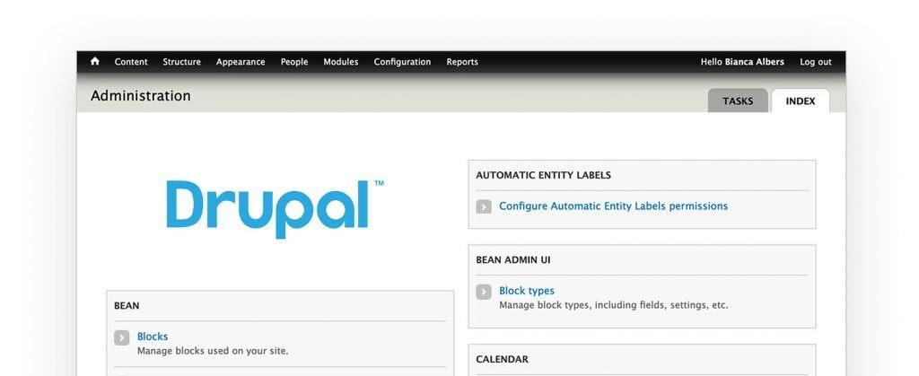 Drupal cms dashboard
