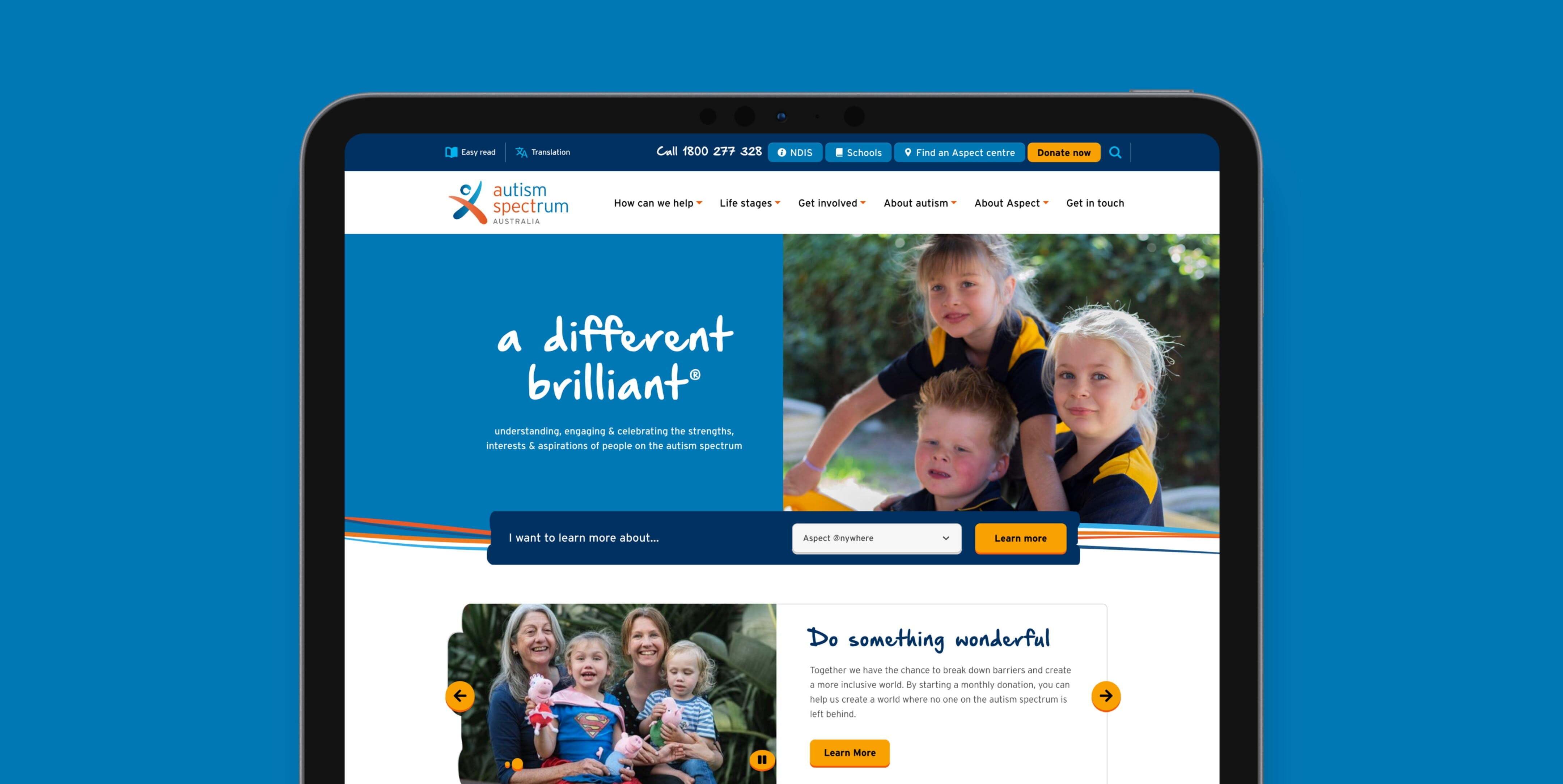 Autism Spectrum Australia home page