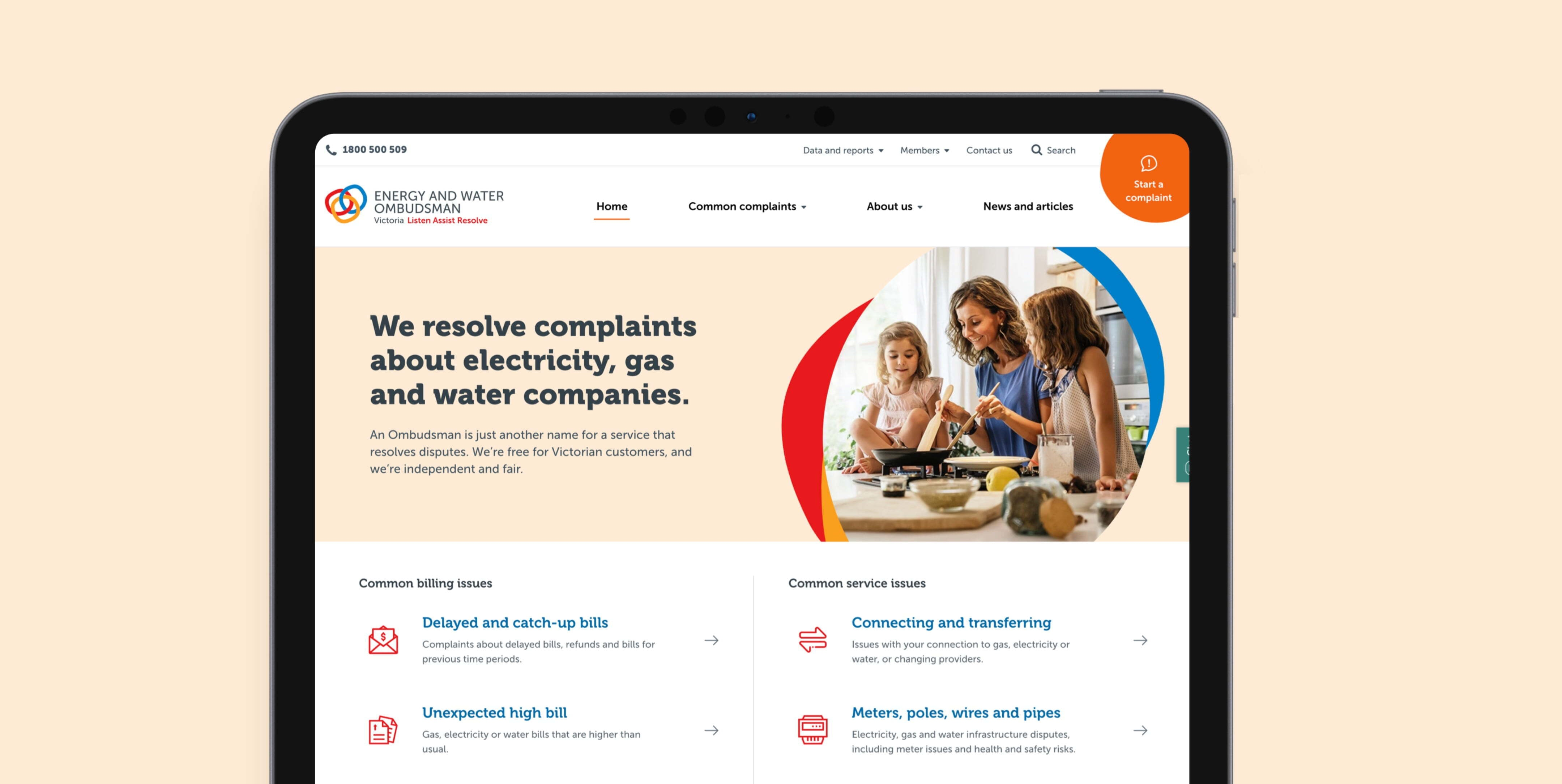 Ewov (Energy And Water Ombudsman Victoria) home page