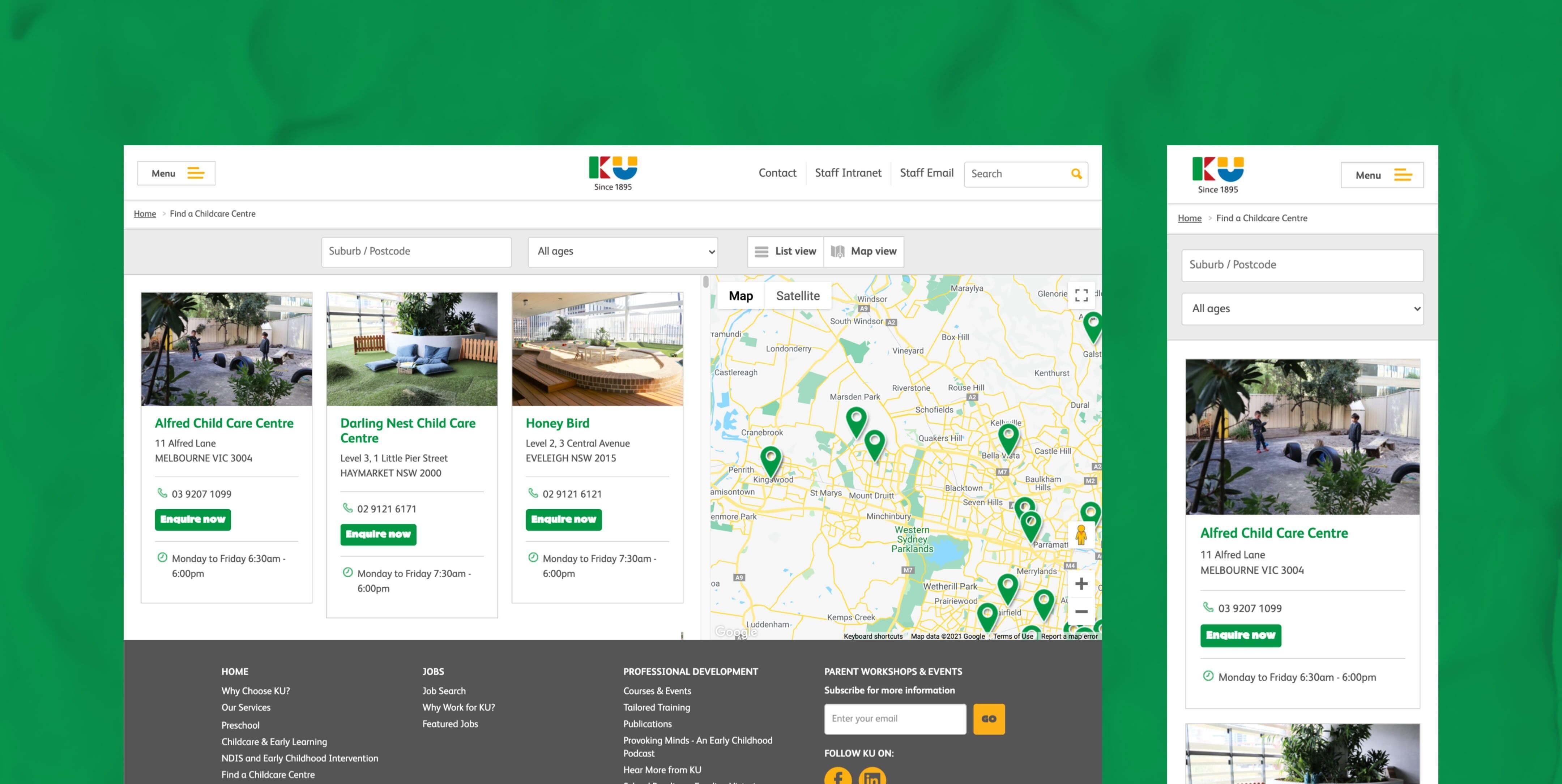 KU children's services Project features