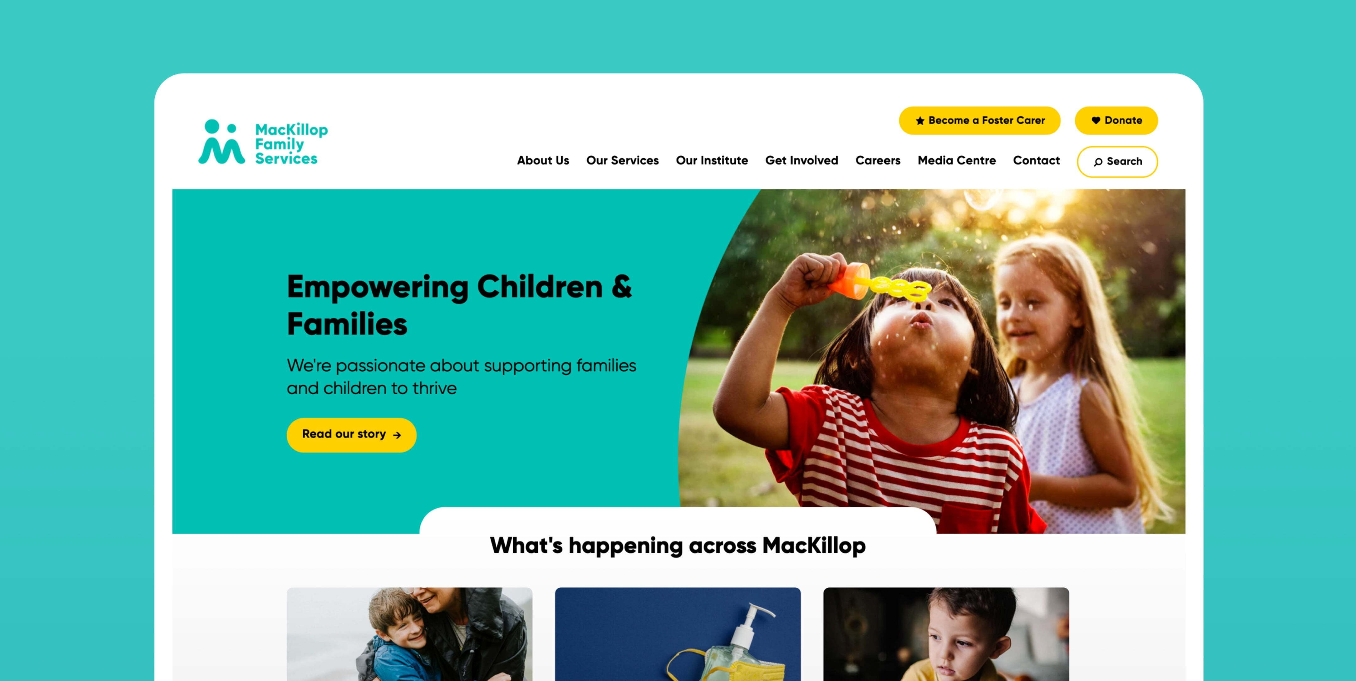 Mackillop Family Services home page