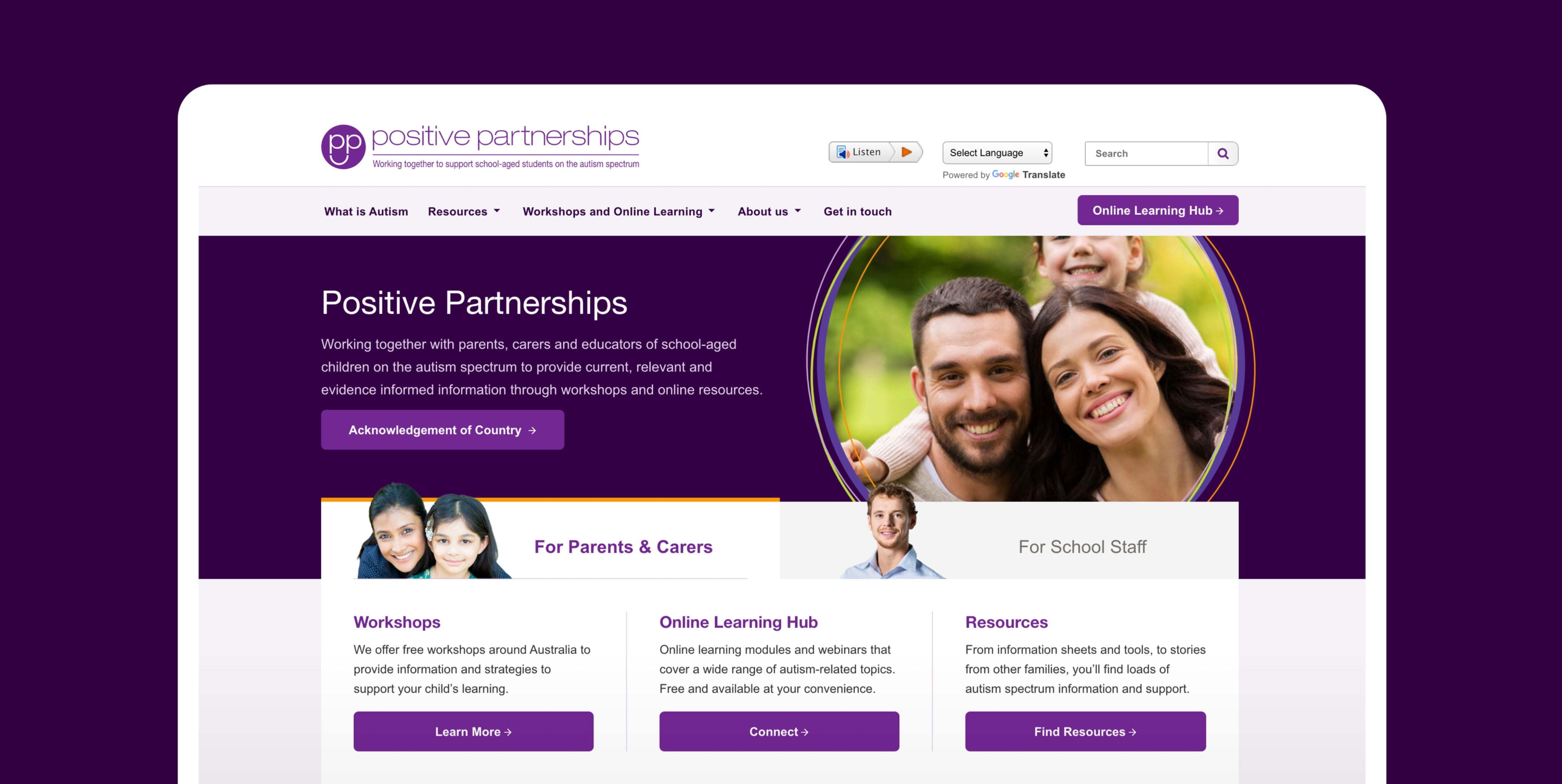 Positive Partnerships home page